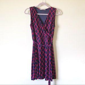 41 Hawthorn || Printed Faux Wrap Dress Size L